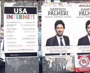 Politica ed internet: una curiosa presenza sui pannelli elettorali ?