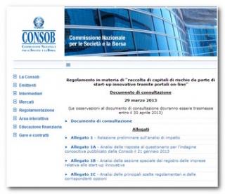 Consob: Crowdfunding e raccolta di capitali per le startup