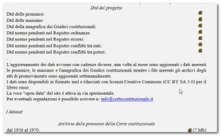Le massime e le decisioni della Corte Costituzionale in Creative Commons