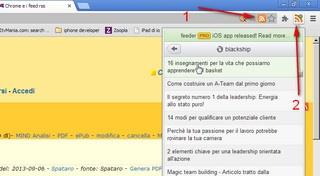 Chrome e i feed rss