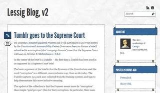 Lessig ha usato Tumbler per estendere il significato costituzionale di corruzione
