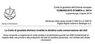 ALERT, vince il diritto all'oblio: vietato imporre di conservare i tabulati degli utenti
