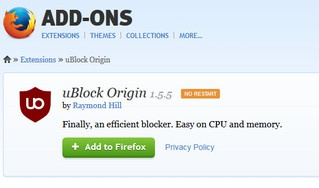 L'anti pubblicita': uBlock Origin