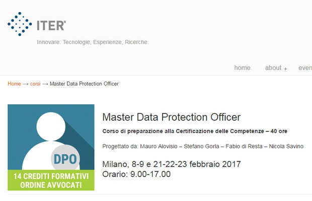 Milano: Master Data Protection Officer