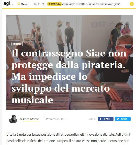 Enzo Mazza: Bollino e' solo degli italiani ed e' da medioevo