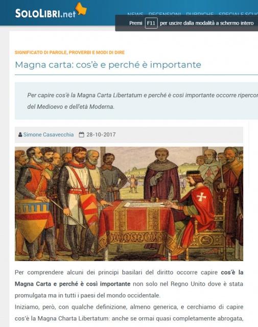 L'importanza della Magna Charta nello studio del diritto oggi