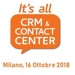 A Milano, 16 ottobre: It's All CRM Contact Center
