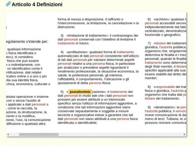 Pseudonimizzazione