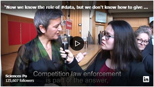 Competition on data: Margrethe Vestager