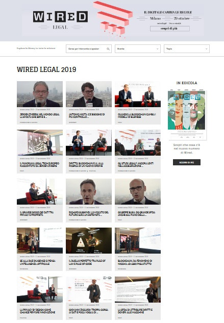 Milano, Wired Legal 2019