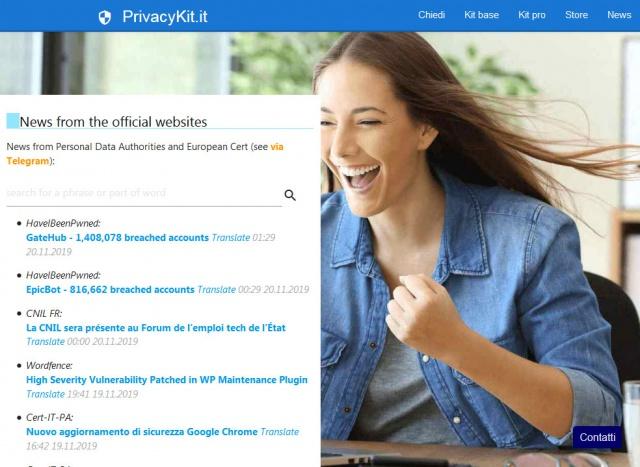 Tutti gli avvisi ufficiali dai siti che si occupano di Privacy