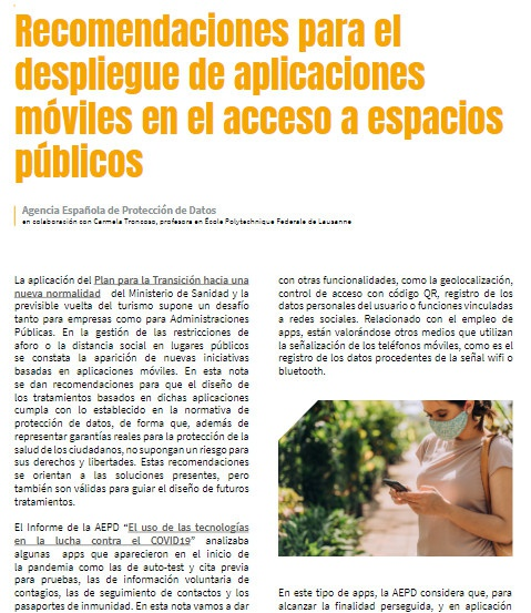 Privacy: app Immuni, il Garante italiano, il Garante spagnolo e un confronto con tecniche del legal design