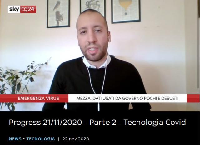 onData su SkyTg24: open data e covid, ma anche altro