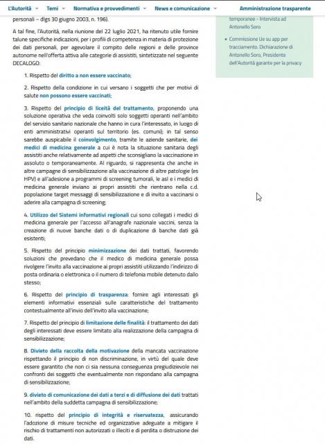 Legal Design 2/5 - il testo originale del decalogo del Garante