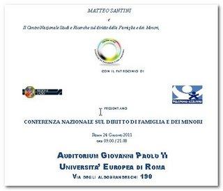 Roma: conferenza nazionale sul diritto di famiglia e minori