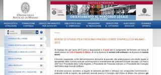 Milano: 8 borse di studio per praticanti entro il 13 settembre 2013