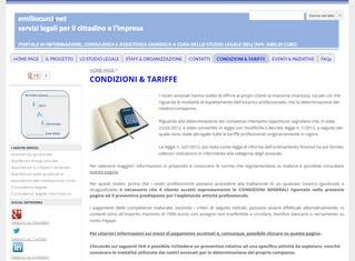 Emilio Curci, l'avvocato online con le condizioni generali del contratto di incarico e le tariffe