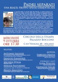 Milano: Padri Separati al Circolo della Stampa
