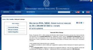 Dal Ministero: sul pos obbligatorio per le carte di debito