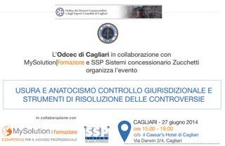 Cagliari: Usura e Anatocismo - controllo giurisdizionale e strumenti di risoluzione