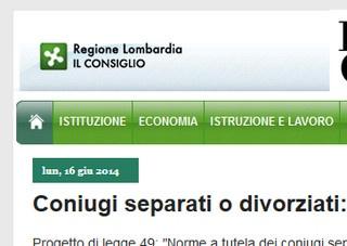 Lombardia: sostegno ai divorziati in condizioni disagiate