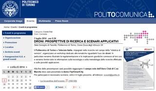 Torino: Droni, prospettive di ricerca e scenari applicativi