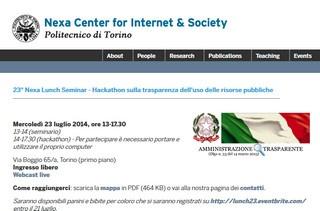 Torino: Hackathon sulla trasparenza dell'uso delle risorse pubbliche