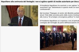 Intervento del Presidente Napolitano alla cerimonia del Ventaglio
