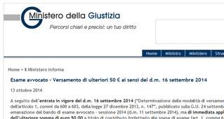 Esame avvocato: da pagare altri 50 euro ! Subito !
