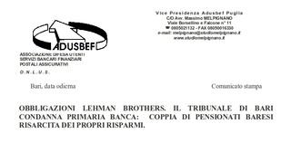 Senza consegna del prospetto informativo l'investimento salta: sentenza del tribunale di Bari