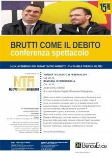 Milano: a lezione di educazione finanziaria con Brutti come il debito