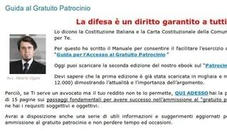 La guida al gratuito patrocinio dell'avv. Alberto Vigani