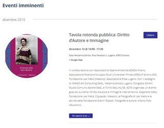 Lugano, 12 dicembre: Diritto d'autore e Immagine