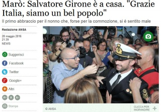 Anche Girone in Italia. Ora posso parlare.