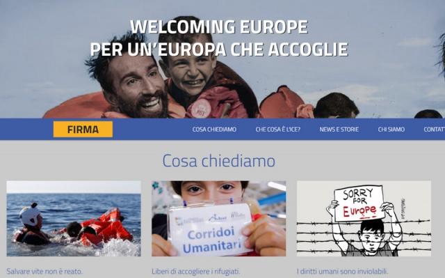 Distribuire alimenti e bevande a un migrante e' reato in 12 paesi europei.