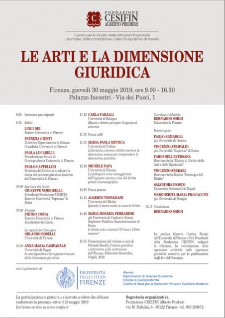 Firenze: Le arti e la dimensione giuridica