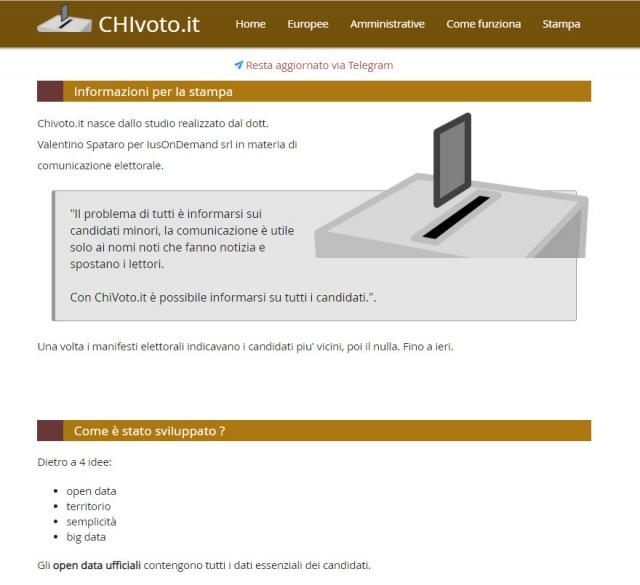 CHIvoto.it - conosci il candidato vicino a te ! Straordinario successo
