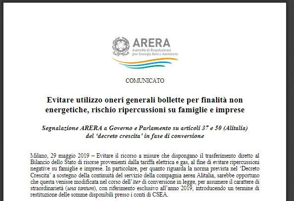 Fatemi capire perche' salvare l'Alitalia e perche' con le bollette