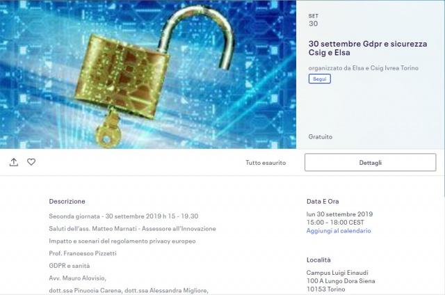 A Torino: Sicurezza informatica