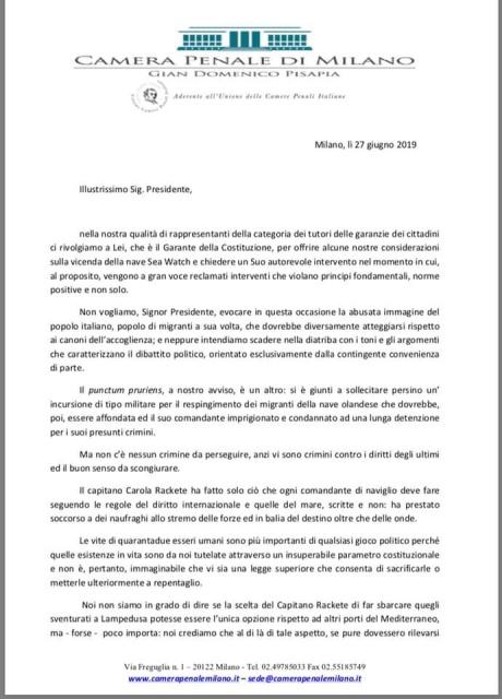 La Camera Penale di Milano si appella a Mattarella