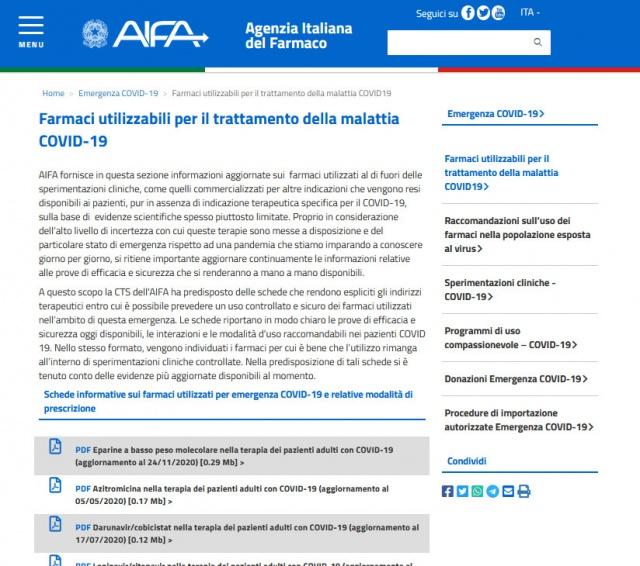 Idrossiclorochina, farmaco economico anticovid, si puo' usare grazie al Consiglio di Stato, contro l'AIFA