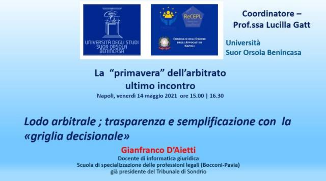 D'Aietti: La griglia decisionale - Live