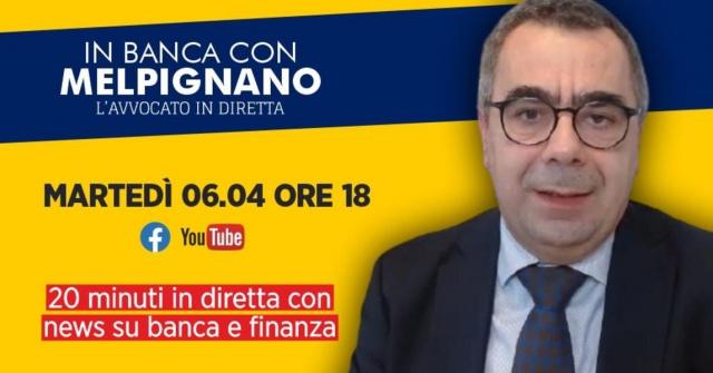 In Banca con Melpignano: 20 minuti in diretta con news su banca e finanza.