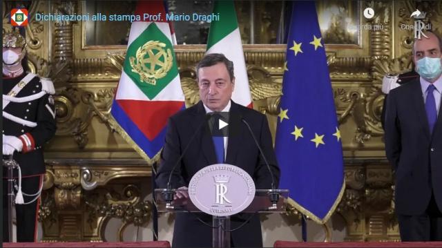 Draghi per i cittadini, davanti al Parlamento