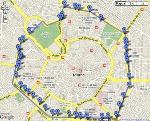 Milano: per arrivare in Tribunale attenti all'Ecopass ! La cartina