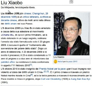 Liu Xiaobo e i 19 stati contro i diritti umani