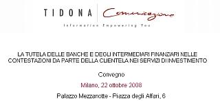 Milano: la tutela delle banche e degli intermediari nella contestazione degli investimenti - crediti formativi