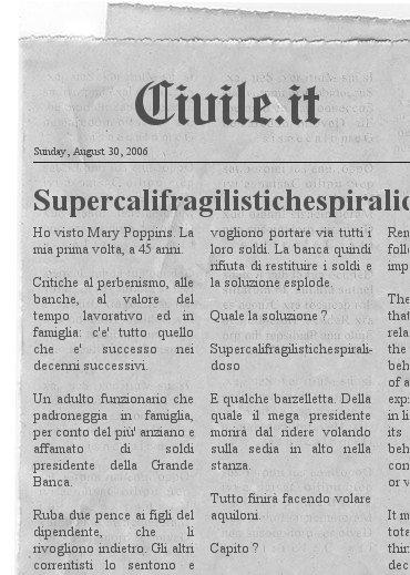 Dedica: Supercalifragilistichespiralidoso